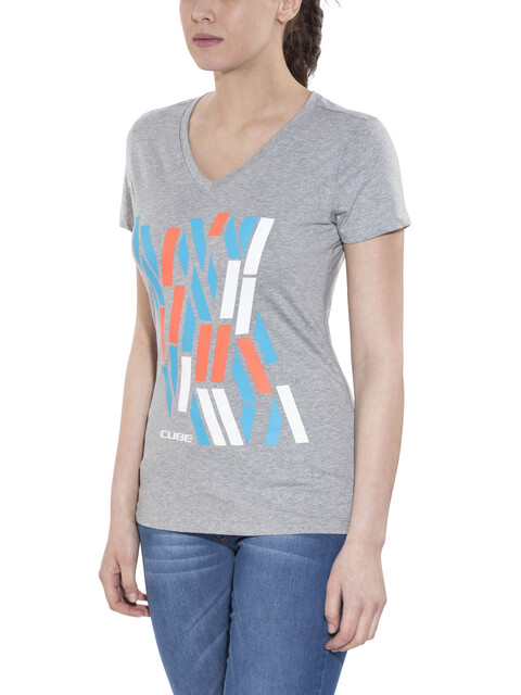 Cube Team T-Shirt Damen grey'n'blue'n'coral